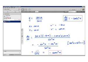 An example of online maths tuition for C3 Core Maths. The topic is the quotient rule for differentiation.