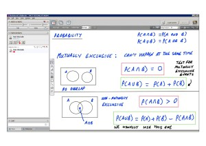 An example of online maths tuition for S1 Statistics. The topic is probability and involves the use of Venn diagrams.