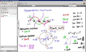 An example of online maths tuition. The topic is trigonometric functions.