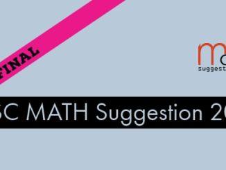 PSC Exam Math Final Suggestion 2018