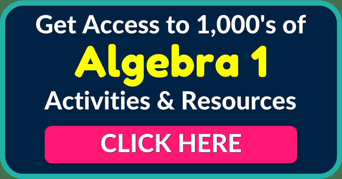 Algebra 1 Lesson Plans