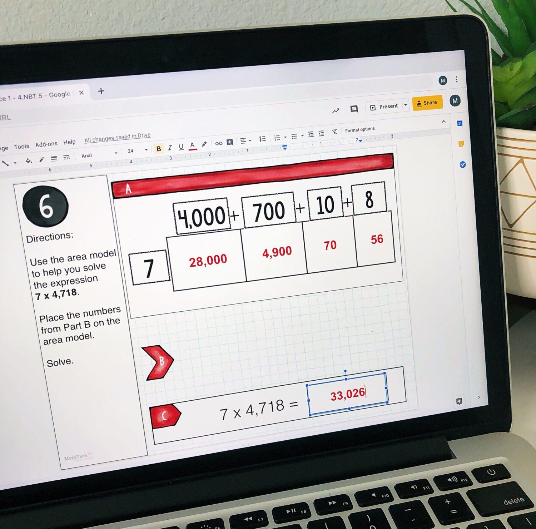 4 Nbt 5 Multareamodel 4 Math Tech Connections