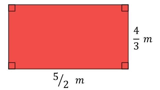 Perimeter of a rectangle when L=5/2m and W=4/3m