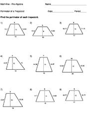 Perimeter Of A Trapezoid Mathvine Com