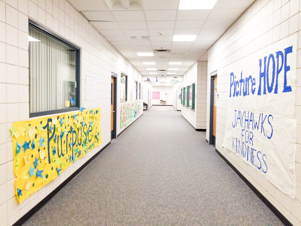 The hallway of the first school I ever worked at. This photo showcases why I decided to specialize in math.