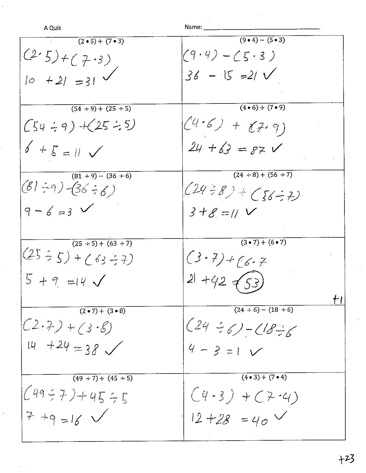 Worksheet Algebra With Pizzazz Answers