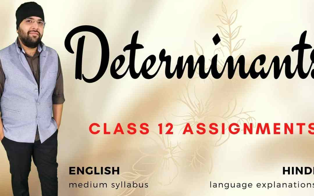 Ch04. Determinants Class 12 Assignments – 1Y