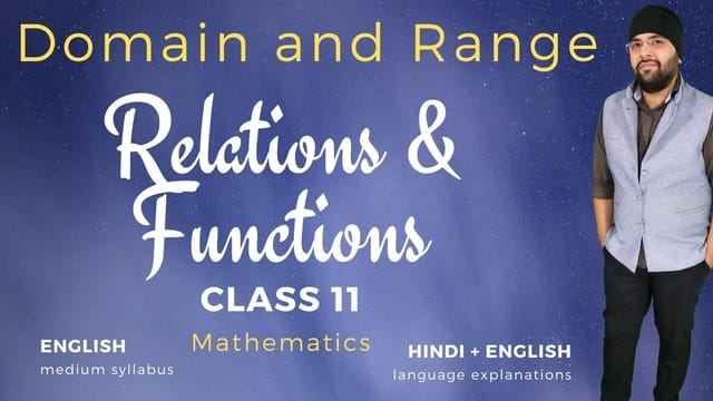 Domain and Range Relations and Functions Class 11 Maths 640px