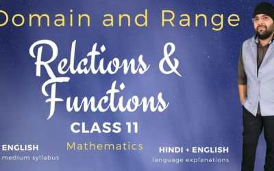 Ch02. Domain and Range of Functions – 1Y