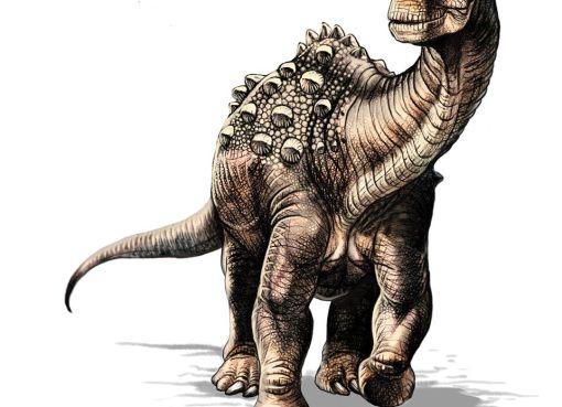 Ilustración de cómo lucía el yamanasaurus.