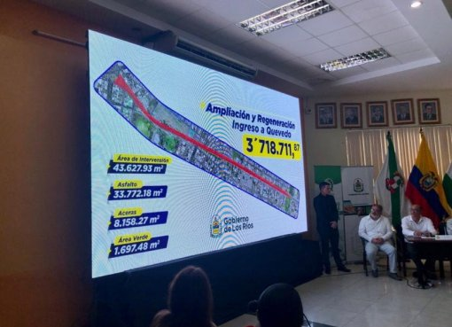 PREFECTO TERÁN PRESENTÓ PROYECTO DE CONSTRUCCIÓN DE NUEVA VÍA DE INGRESO A QUEVEDO