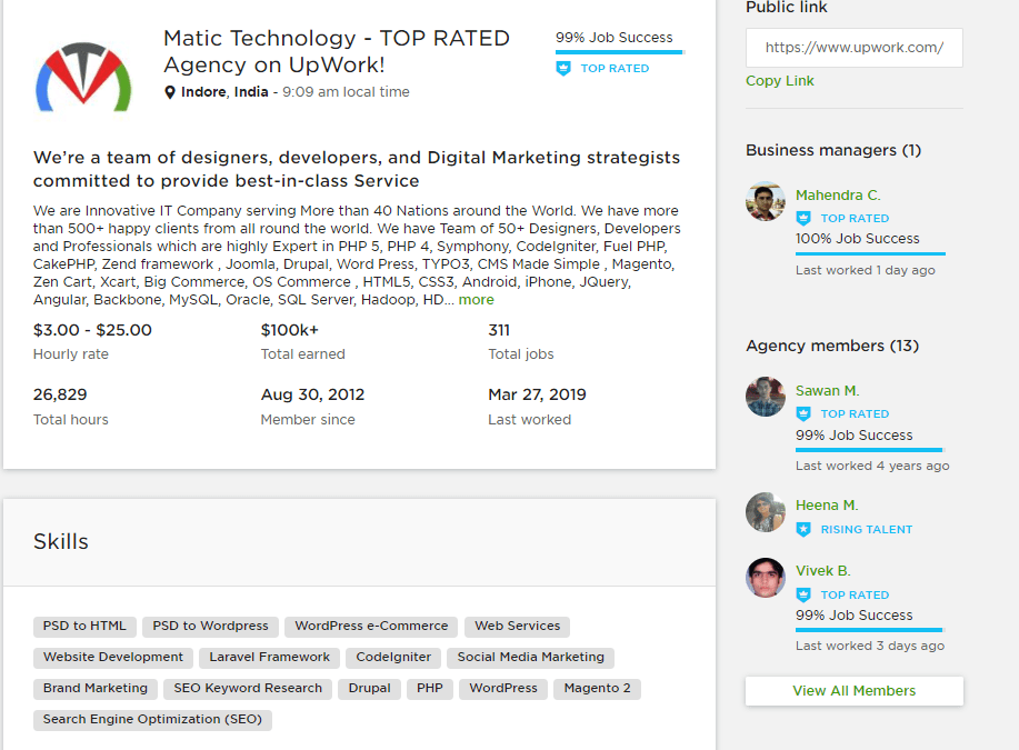 Matic Technology – TOP RATED Agency on UpWork!