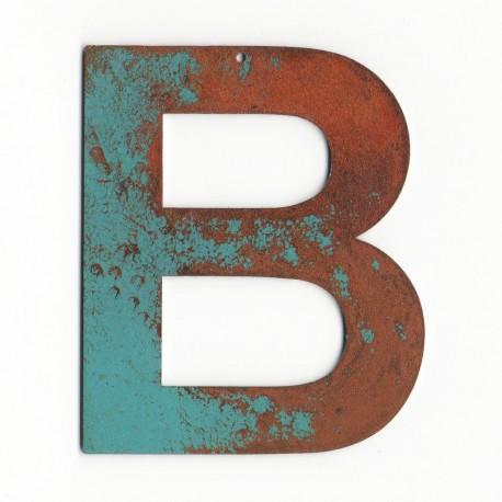 lettre metal blue vintage 16cm