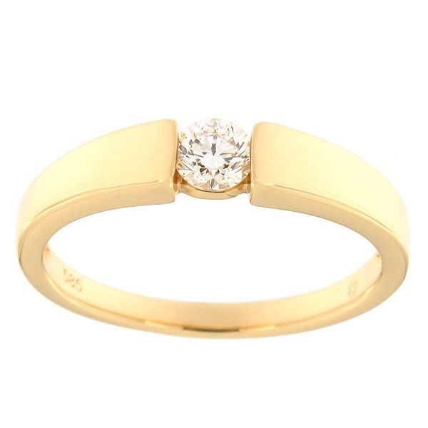 Kullast sõrmus teemantiga 0,23 ct. Kood: 100af