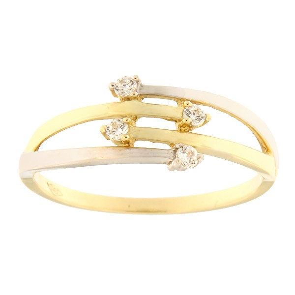 Gold ring with zircons Code: 103pm