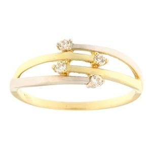 Kullast sõrmus tsirkoonidega Kood: 103pm