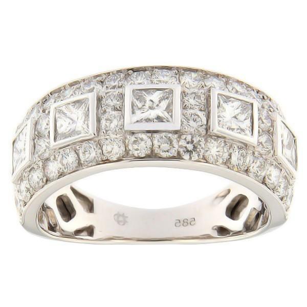 Kullast sõrmus teemantidega 1,66 ct. Kood: 109al