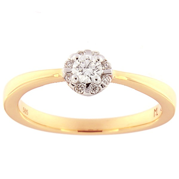 Gold ring with diamonds 0,19 ct. Code: 112ak