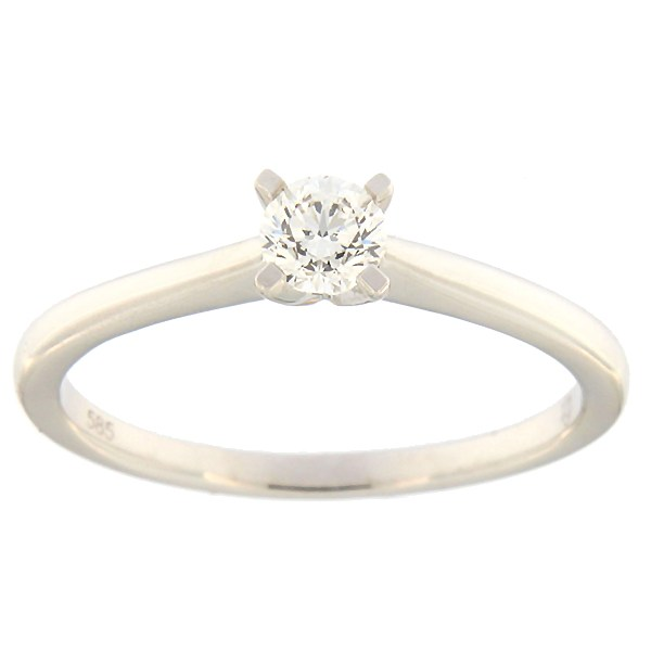 Gold ring with diamond 0,24 ct. Code: 118af
