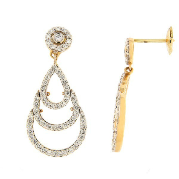 Gold earrings with diamonds 1,03 ct. Code: 118ag