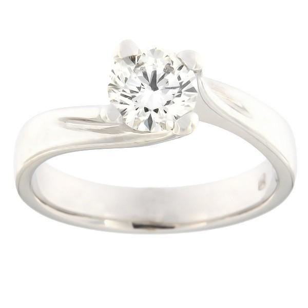 Kullast sõrmus teemantiga 0,76 ct. Kood: 11b