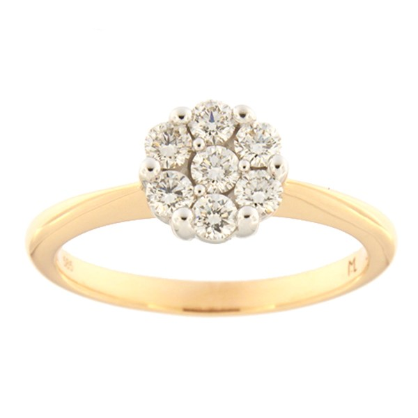 Gold ring with diamonds 0,43 ct. Code: 121ak