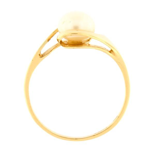 Kullast sõrmus mageveepärliga Kood: 125pt-1