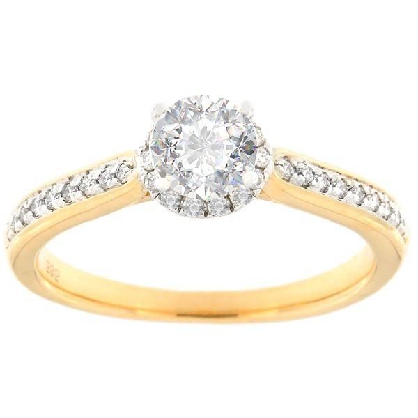 Kullast sõrmus teemantidega 0,66 ct. Kood: 128af