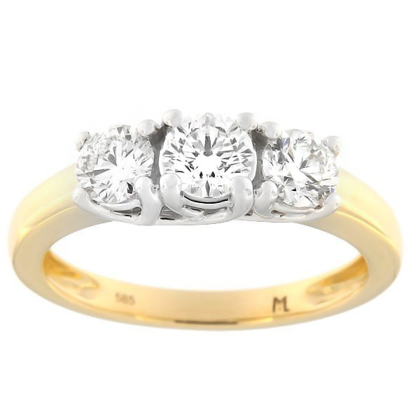 Gold ring with diamonds 1,00 ct. Code: 129ak