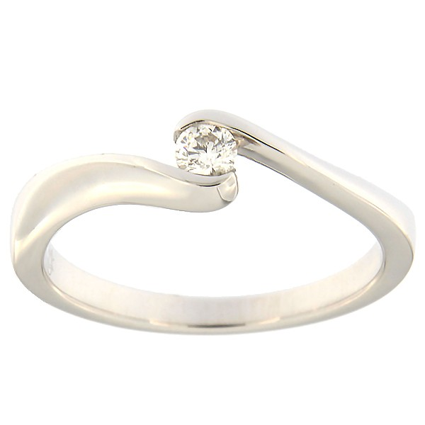 Gold ring with diamond 0,09 ct. Code: 129ax