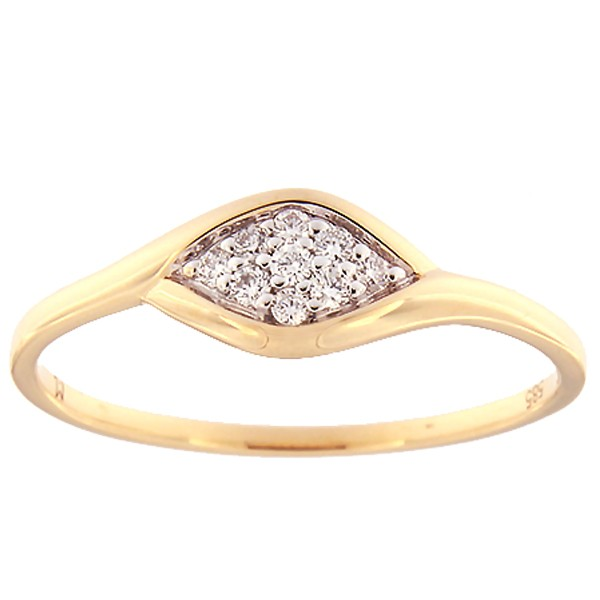 Gold ring with diamonds 0,08 ct. Code: 136ak