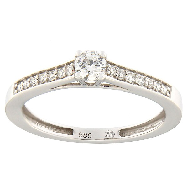 Kullast sõrmus teemantidega 0,24 ct. Kood: 138ax