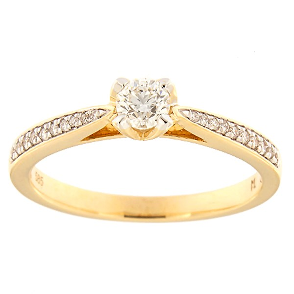 Gold ring with diamonds 0,31 ct. Code: 172ak