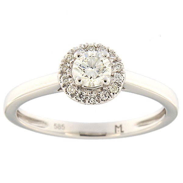 Kullast sõrmus teemantidega 0,32 ct. Kood: 178ak
