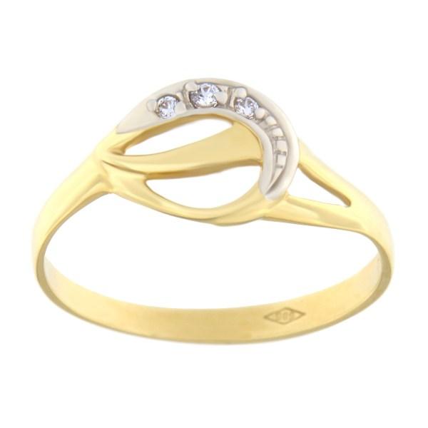 Kullast sõrmus tsirkoonidega Kood: 183pm