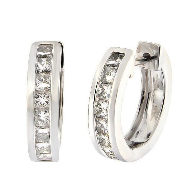 Kullast kõrvarõngad teemantidega 1,15 ct. Kood: 18an