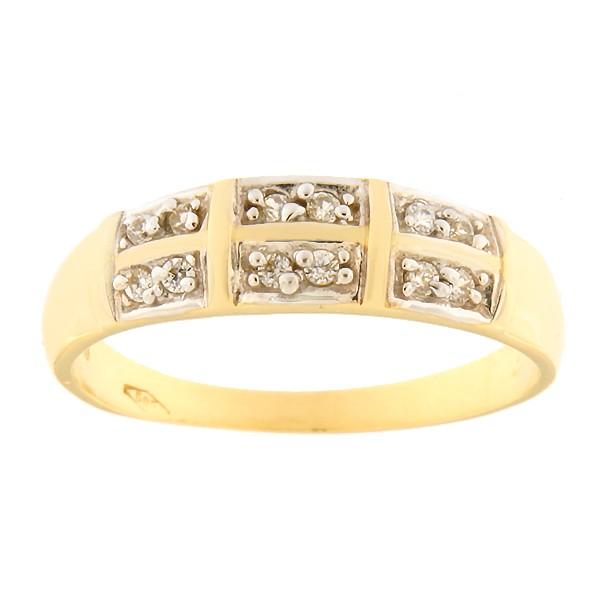 Kullast sõrmus tsirkoonidega Kood: 1pa