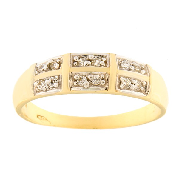 Gold ring with zircons Code: 1pa