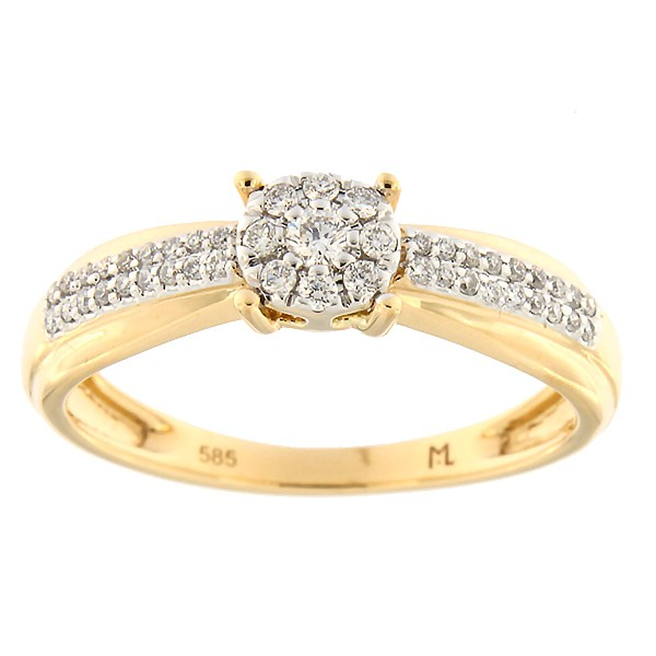 Gold ring with diamonds 0,20 ct. Code: 202ak