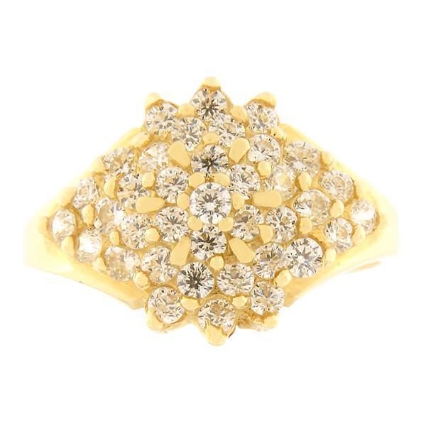 Kullast sõrmus tsirkoonidega Kood: 261pe