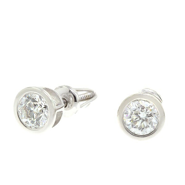 Gold earrings with diamonds 0,60 ct. Code: 29an