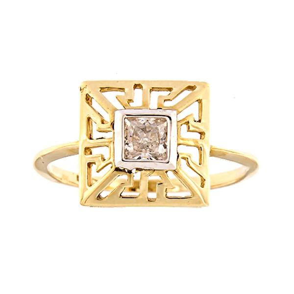 Kullast sõrmus tsirkooniga Kood: 2pa
