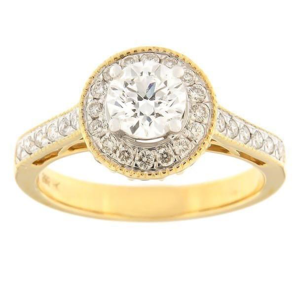 Kullast sõrmus teemantidega 1,00 ct. Kood: 33ha-rb4716