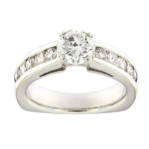 Золотое кольцо с бриллиантами 1,84 ct. Kood: 378ad