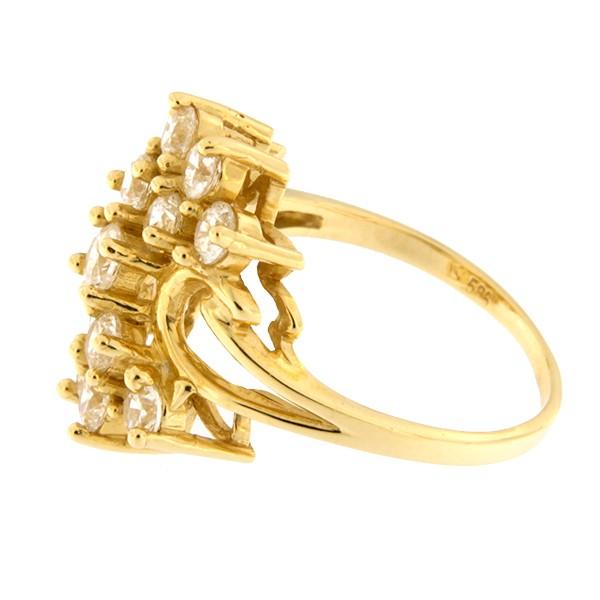 Kullast sõrmus tsirkoonidega Kood: 461wp065-1