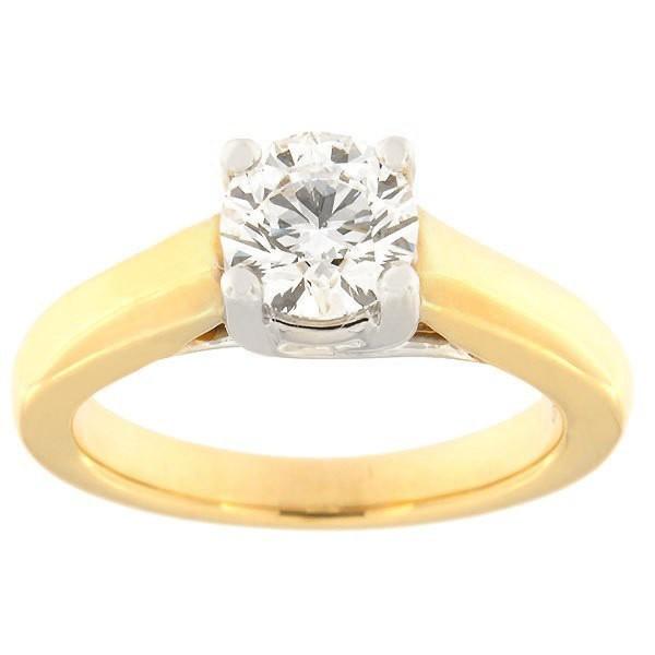 Kullast sõrmus teemantiga 1,00 ct. Kood: 47aa