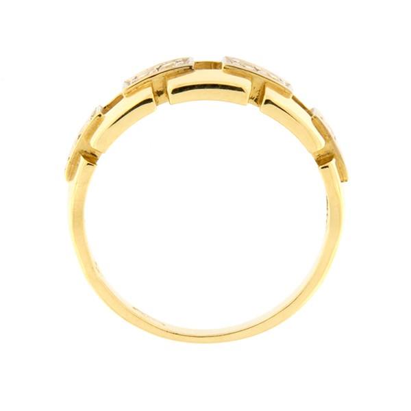 Kullast sõrmus tsirkoonidega Kood: 47pm-1