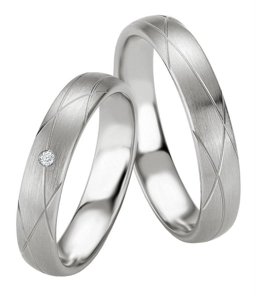 Breuning abielusõrmused - Valge kuld - MATIGOLD