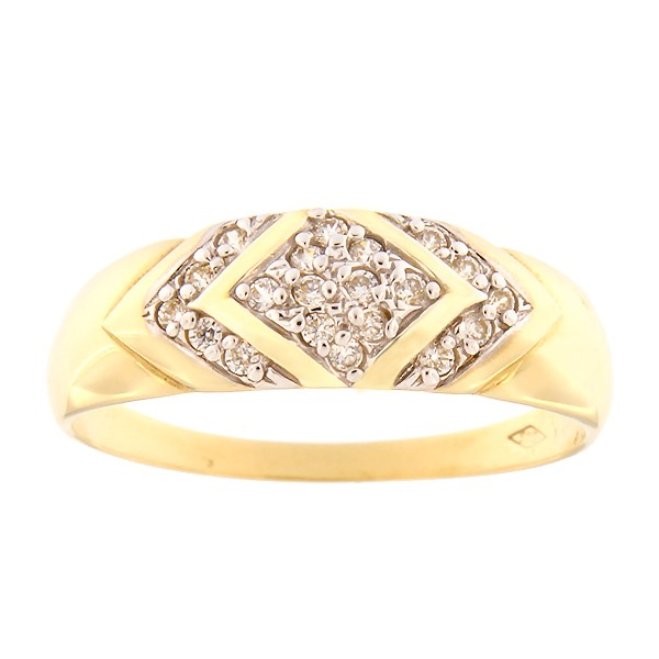Gold ring with zircons Code: 56pm