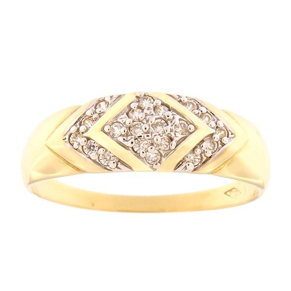 Kullast sõrmus tsirkoonidega Kood: 56pm